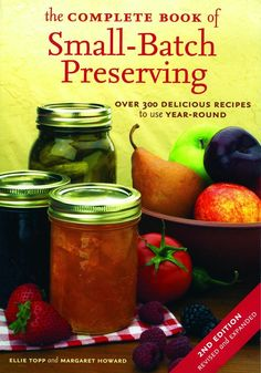 By Ellie Topp and Margaret Howard. This is a great book that has over 300 delicious recipes for getting the most out of your harvest. Many times we only have small amounts of fruits and vegetables as