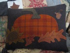 Fall/Pumpkin Wool Pillow