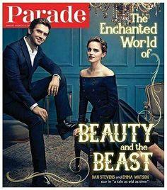 NEW PHOTO  › ❀ n e w • • magazine cover; Emma e Dan Stevens sulla copertina di Parade Magazine di Marzo 2017.   Crediti : She's Emma Watson   ~EmWatson