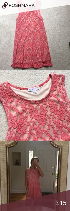 Socialite Pink Lace Dress in excellent condition! Socialite pink lace dress with nude insert. size small! Socialite Dresses