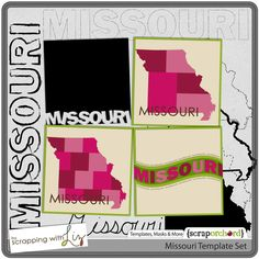 Missouri Template Set  $3.75 at Scrap Orchard
