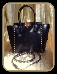 Black Studded Tote | Shop 2 Chic