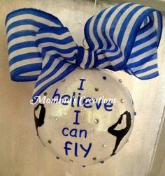 perfect gift for your flyer hand glittered by MommasCreations4you