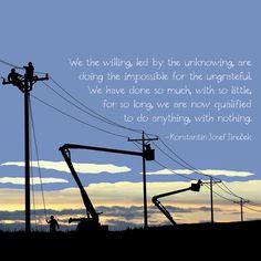 Linemen light up our lives