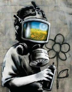 Banksy canvas Gas Mask Boy Street Art Grafitti print – Graffiti World Banksy Graffiti, Street Art Banksy, Banksy Canvas, Bansky, Graffiti Quotes, Art Quotes, Banksy Quotes, Banksy Prints, Street Art Graffiti