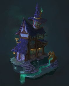 ArtStation - The Witch's House, Maeve Broadbin