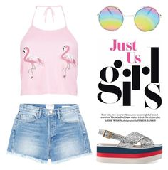 """Jul 12th (tfp) 3962"" by boxthoughts ❤ liked on Polyvore featuring Frame, Boohoo, Gucci and tfp"