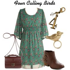 """""""Four Calling Birds"""" by disneyfan14 on Polyvore"""