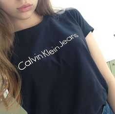 calvin klein, cool girls, fashion, girl, hair, my photos, t-shirt, calvin klein jeans, tumblr site models