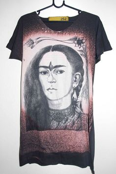 Frida Kahlo Mexican Icon Art Pop Rock Long TShirt by sixwas9ine, $17.99