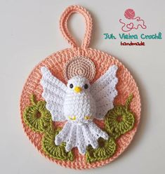 Crochet Angels, Crochet Art, Filet Crochet, Cute Crochet, Crochet Motif, Crochet Toys, Crochet Potholders, Crochet Christmas Ornaments, Christmas Crochet Patterns