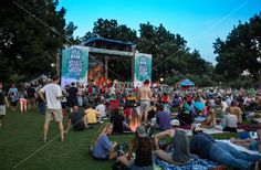 Free Fun in Austin! Blues on the Green, a series of popular free summertime concerts held in Austin's Zilker Park is attended by thousands of concert goers each week in Austin, Texas.
