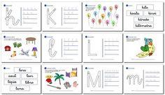 Actividades de lectoescritura para niños de 5 años y primer grado k, l, m, n, ñ.