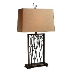 Buy the Dimond Lighting Aria Bronze and Iron Direct. Shop for the Dimond Lighting Aria Bronze and Iron 1 Light Table Lamp from the Belvior Park Collection and save. Elk Lighting, Home Lighting, Lighting Ideas, Light Table, Lamp Light, Light Led, Iron Table, Farmhouse Lighting, Fabric Shades