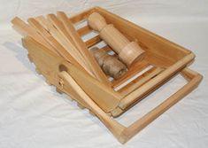 rustic wooden trug