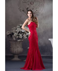 fbd489922c9 Mermaid Strapless Floor-length Satin Lace Evening Dress  OP4576  164.3 -  GemGrace.com. Robes De Bal ...