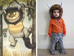 A bat and a wild thing  sc 1 st  Pinterest & TELL: DIY WHERE THE WILD THINGS ARE FAMILY COSTUME | Pinterest ...