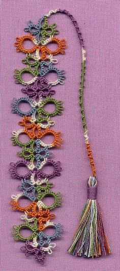 "Tatting, Beading and Needlework. Very easy pattern. Apparently, tatting like this is also done in Turkish needlework, where it is used to decorate headscarfs. Tatting in Turkish is called ""oya"". Tatting Jewelry, Tatting Lace, Tatting Earrings, Needle Tatting Patterns, Crochet Patterns, Needle Tatting Tutorial, Shuttle Tatting Patterns, Thread Crochet, Crochet Crafts"