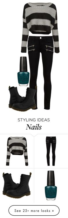 """""""Punk Rock 101"""" by gracerose03 on Polyvore featuring QED London, Paige Denim, Dr. Martens, OPI, women's clothing, women's fashion, women, female, woman and misses"""
