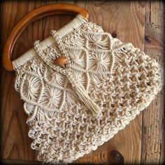 The Macrame Wishes pixie bag by Hashtags on Etsy