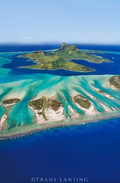Bora Bora (aerial), Tahiti #tropical #vacation #travel #BoraBora