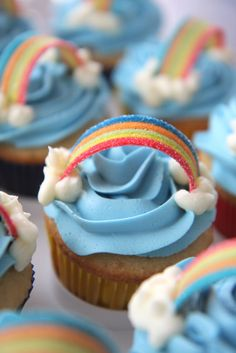 Rainbow Cupcakes - great for kids