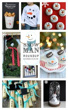 snowman shoutouts! There is something about these white fluffy guys that I love! and there are so many adorable ideas of ways to get festive with them this January! here are over 20 fun ideas from crafts, to decorations, to snacks!
