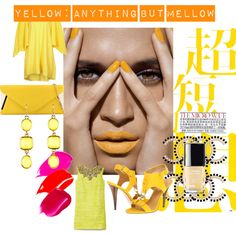 """Yellow: Anything but mellow"" by nikkisg on Polyvore"