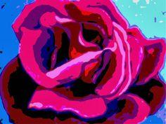 mod art floral