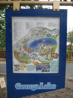 A better view of the last map of the Geauga Lake Amusement Park before it closed forever. Geauga Lake Amusement Park, Best Amusement Parks, Animal Cupcakes, Six Flags, Lake Park, Sea World, My Memory, Abandoned Places, Nice View