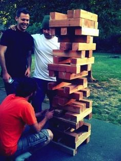 10 Amazingly Fun DIY Outdoor Games.  Lawn Jenga  This game is as fun to play as the original - just make sure to get out of the way when it topples