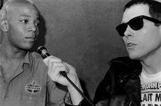 Glenn O'Brien interviews Jean-Michel Basquiat on TV Party [Photo: Bobby Grossman]