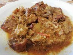 Vepřové kostky vtroubě| recept na jednoduché jídlo | jitulciny-recepty.cz Pork, Beef, Chicken, Red Peppers, Kale Stir Fry, Meat, Pork Chops, Steak, Cubs