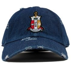 9e508be5 Kappa Alpha Psi Denim Distressed Hat - Letters Greek Apparel - Black Greek  Paraphernalia - Divine