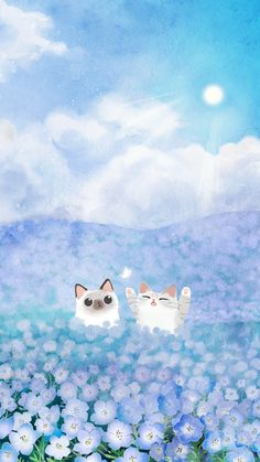 cat phone wallpaper, i love cats, Wallpaper Gatos, Cat Phone Wallpaper, Kawaii Wallpaper, Cute Wallpaper Backgrounds, Mobile Wallpaper, I Love Cats, Crazy Cats, Animals Watercolor, Kawaii Drawings