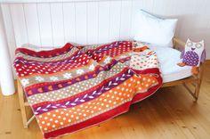 David Fussenegger Flowers Orange and Red Bamboo Cot Blanket