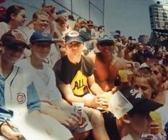 Eddie Vedder in the bleachers at Wrigley long ago