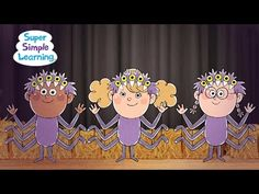 """is a great time to put on a school performance! A Super Simple Halloween counting song, """"Five Creepy Spiders"""". Created for ages 3 and up. Halloween Songs For Toddlers, Halloween Music, Halloween Math, Halloween Crafts For Kids, Halloween Activities, Halloween Themes, Happy Halloween, Kindergarten Music, Fall Preschool"""