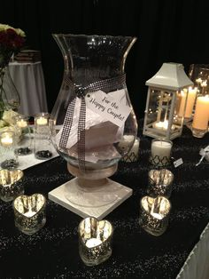 Perfect for Weddings!! The Chalet Hurricane as an envelope holder!  #PartyLite #PLNAC