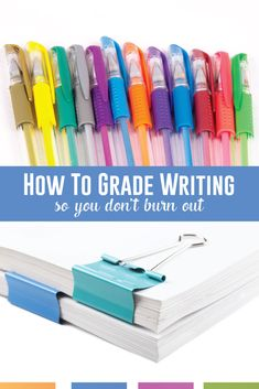 Grading Writing Don't burn out from grading student writing. Use checklists, targeted practice, and focused rubrics to keep your sanity as an ELA teacher. Writing Lessons, Math Lessons, Writing Ideas, Teaching English, English Teachers, English Classroom, Teaching High Schools, Teaching Resources, Instructional Coaching
