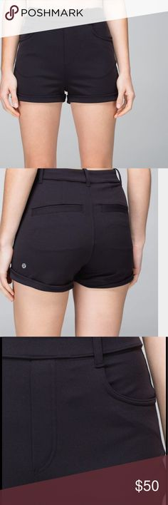 Lululemon NWT Ok Hi shorts, size 8. NWT. sweat-wicking, four-way stretch Luon fabric is breathable and cottony soft yoga-friendly no zippers, no bulk five pockets give you plenty of space to store your essentials lululemon athletica Shorts