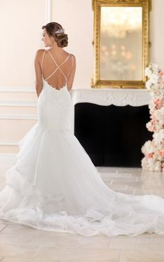 6519 Princess Wedding Gown with V-Neck by Stella York