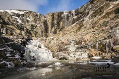 Arctic waterfall. Enontekiö, Kilpisjärvi. Photo: Jani Kärppä/ Lappikuva. #filmlapland #arcticshooting #finlandlapland