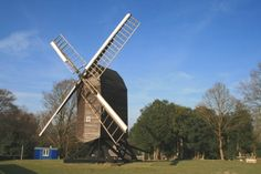 Nutley Windmill This post mill is located high up on Ashdown Forest in East Sussex.