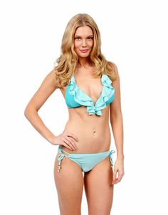 This ruffle bikini top makes us crave waves!