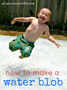 Ginger Snap Crafts: how to make a water blob {tutorial} + a fun summer link party