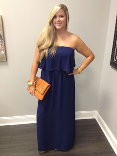 Loving our new navy maxi!! Shop THE LOOK BOUTIQUE on facebook!