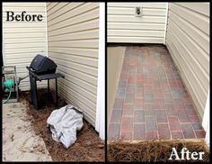 DIY Brick Patio (weu0027re Doing This On The Side Of The House)