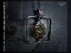 Raw epidote pendant Ambarash druids jewelry