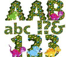 Dinosaur Alphabet & Numbers